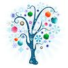 Christmas tree with balls | Stock Vector Graphics