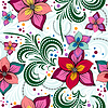 Vector clipart: Floral vivid seamless pattern