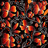 Seamless floral dark pattern | Stock Vector Graphics