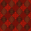 Abstract seamless red-black-gold vintage pattern