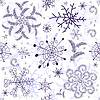Vector clipart: Seamless white christmas pattern