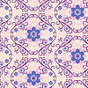 Seamless pink-blue floral pattern