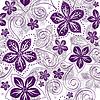 Векторный клипарт: Бесшовные белый-фиолетовый цветочным узором