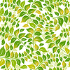 Vector clipart: Seamless white-green floral pattern