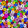 Vector clipart: Seamless floral vivid pattern