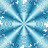 Vector clipart: White-blue seamless pattern