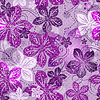 Vector clipart: Seamless floral gray pattern