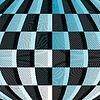 Vector clipart: Black-blue-white checkered pattern