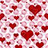 Vector clipart: Seamless valentine pattern