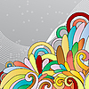 Vector clipart: multicolor abstract floral background