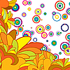 multicolor abstract floral background