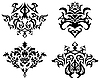 Vector clipart: gothic pattern set