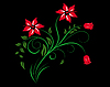 Vector clipart: red flowers