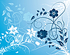 Vector clipart: blue floral background