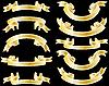 Vector clipart: golden ribbons