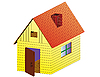 Vector clipart: rural house