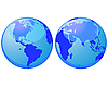 Vector clipart: world globes