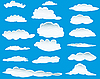 Vector clipart: different clouds