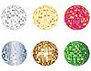 Vector clipart: disco spheres