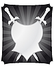 Vector clipart: shield and swords