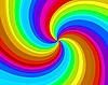 Vector clipart: rainbow spiral background