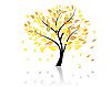 Vektor Cliparts: Baum im Herbst