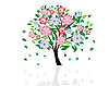Vector clipart: blossom tree