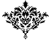 Векторный клипарт: викторианский цветочный орнамент