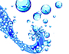 Vector clipart: background of water bubbles