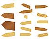 Vector clipart: wooden billboards