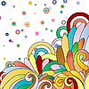 Vector clipart: multicolor abstract background