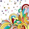 Векторный клипарт: разноцветный абстрактный фон