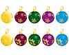 Vector clipart: set of christmas balls