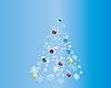 Weihnachtskarte mit Tanne