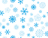 Vector clipart: seamless snowflakes