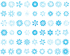 Vector clipart: set of snowflakes