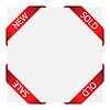 Vector clipart: set of ribbon labels