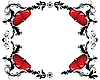 Vector clipart: valentine`s frame of hearts