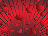 Vector clipart: background of red hearts