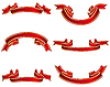 Vector clipart: red ribbons set