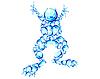 Vector clipart: bubbles frog