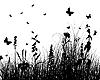 Vector clipart: grass silhouette