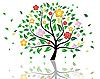 Векторный клипарт: цветущее дерево