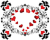 Vector clipart: valentine's frame of hearts