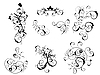 Vector clipart: floral victorian elements