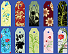 Vector clipart: floral tags