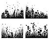 Vector clipart: grass silhouettes set