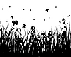 Vector clipart: flower silhouettes