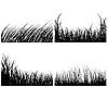 Vector clipart: set of grass backgrounds