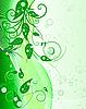 Vektor Cliparts: floral background